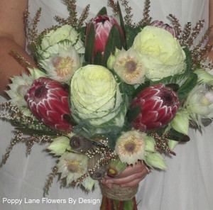kale protea blushing bride bouquet_bg