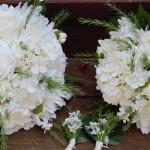 white on white bouquet set