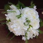 white on white bridesmaid